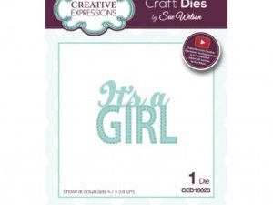 CED10023 Creative Expressions Sue Wilson Die New Arrival It`s a Girl-0