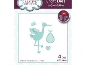 CED10024 Creative Expressions Sue Wilson Die New Arrival Stork And Baby-0