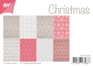 6011/0509 JOY Papirsblok A4 Christmas-0