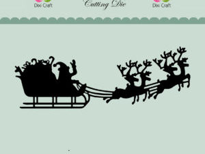 MD0048 Dixi Craft Die Christmas Sleigh-0