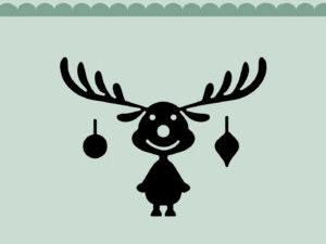 MD0053 Dixi Craft Die Reindeer w/Christmas Bells-0