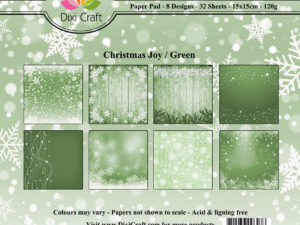 PP0068 Dixi Craft Papirspakning Christmas Joy Green -0