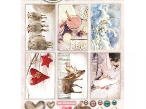 STAPSWS1353 StudioLight 3D Udstanset 1 ark Sweet Winter Season Winter Wonderland-0