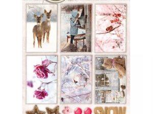 STAPSWS1355 StudioLight 3D Udstanset 1 ark Sweet Winter Season Hello Winter-0