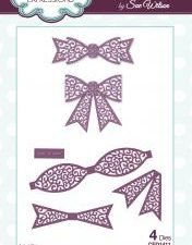CED1411 Creative Expressions Sue Wilson Die Finishing Touches Filigree 3D Itty Kitty Bows-0