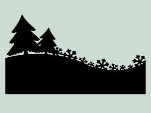 MD0057 Dixi Craft Die Bort med Grantræer og snefnug-0
