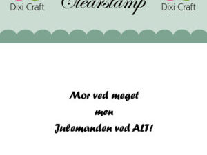 273069 Dixi Craft Clearstamp Citat Mor ved meget men -0
