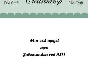 273069 Dixi Craft Clearstamp Citat Mor ved meget men -0
