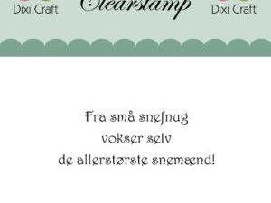 273071 Dixi Craft Clearstamp Citat Fra små snefnug vokser-0