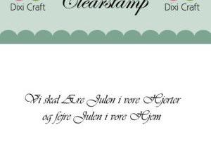 273072 Dixi Craft Clearstamp Citat Vi skal ære julen-0