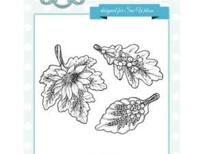 UMS757 Creative Expressions Sue Wilson Stempel Autumn Leaf Bouqets -0