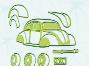 45.2731 Leane Creatief Die Cut/emb Car / Beetle-0