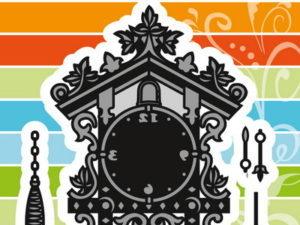 CR1388 Marianne Design Die Cut/emb Craftables Silver Selection Cuckoo Clock-0