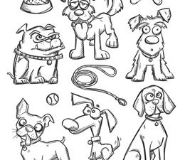 CMS271 Stampers Anonymous Tim Holtz Crazy Dogs Stamps-0