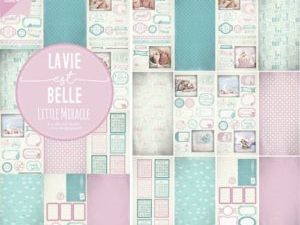 6011/0384 JOY Papirsblok 15x30 La Vie Est Belle Little Miracle-0