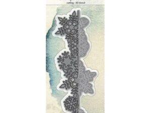 6002/0690 JOY Die Cut 3D Snowflake Border-0