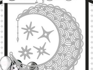 YCD10081 Yvonne Creations Die Pretty Pierrot Collection Filigree Moon-0