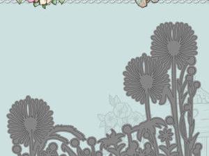 YCD10083 Yvonne Creations Die Spring Tastic Dandelion Border-0