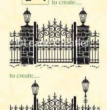 55.3110 Leane Creatief Combi Stamp Garden Gate-0