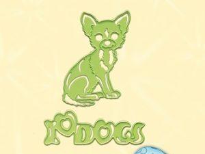 45.3059 Leane Creatief Die Cut/emb Dog Chihuahua-0