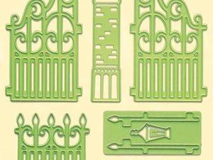 45.3080 Leane Creatief Die Cut/emb Garden Gate-0