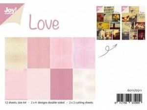 6011/0511 JOY Papirsblok A4 Love-0