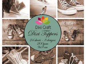 ET0286 Dixi Craft Toppers Sneakers Brune Nuancer -0