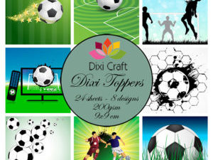 ET0287 Dixi Craft Toppers Fodbold Farver -0