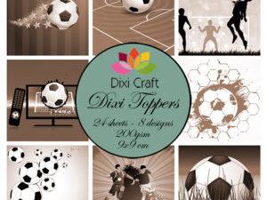 ET0288 Dixi Craft Toppers Fodbold Brune Nuancer -0