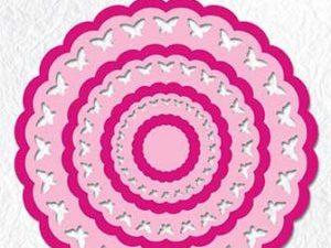 MFD104 Nellie Snellen Die Multiframe Rosette Butterflies-0