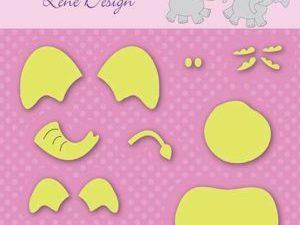 SDL031 Nellie Snellen Die Lene Design Shape Die Elephant-0