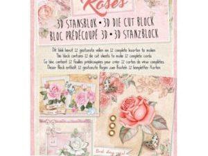 STANSBLOKRO41 StudioLight Udstanset Papirblok 3D Roses-0