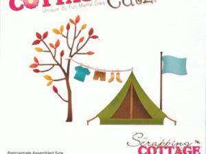 CC-251 Cottage Cutz Die Campfire Clothesline -0