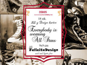 35805 Felicita Design Toppers 9x9cm Everybody Is Wearing All Stars-0