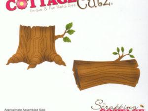 CC-232 Cottage Cutz Die Tree Stump & Log For Peekers-0