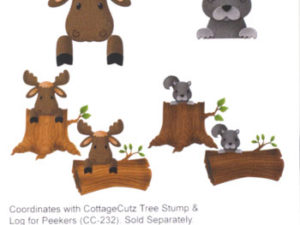 CC-228 Cottage Cutz Die Forest Peekers Moose & Squirrel-0