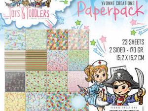 YCPP10012 Yvonne Design Papirblok Tots & Toddlers -0