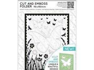 XCU 503810 Docraft Xcut Skære & Embossingfolder A6 Butterfly Aperture-0