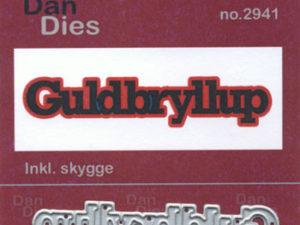2941 Dan Dies Mellem Guldbryllup med Skygge -0