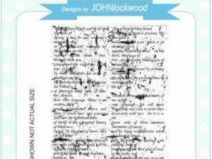 UMS779 Creative Expressions John Lockwood Gummistempel Horticutural Script Background-0