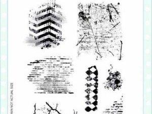 CEC828 Creative Expresions Acrylstempel A5 Textures-0