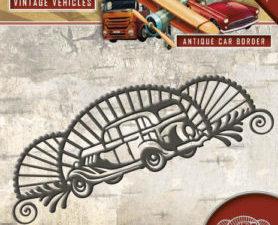 ADD10095 Amy Design Die Vintage Vehicles Antique Car Border-0