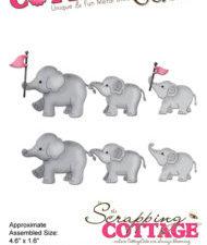 CC-302 Cottage Cutz Die Elephants on Parade-0