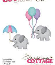 CC-293 Cottage Cutz Die Baby Shower Elephant-0