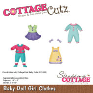 CC-287 Cottage Cutz Die Baby Doll Girl Clothes-0