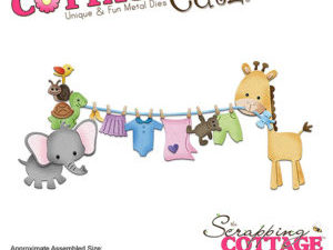 CC-279 Cottage Cutz Die Baby Clothesline-0