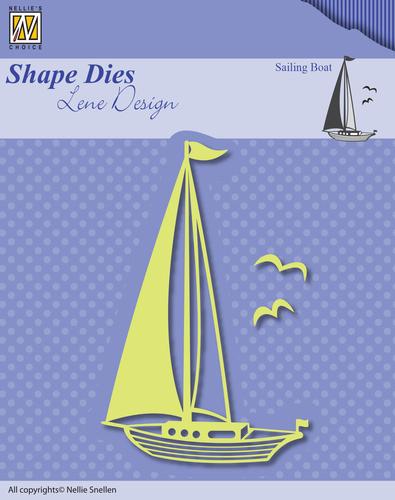 SDL039 Nellie Snellen Die Lene Design Shape Die Sailing Boat-0