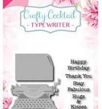6004/0011 JOY Die Cut/emb/stamp Crafty Cocktail Typewriter-0