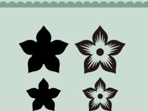 MD0089 Dixi Craft Die og Clearstamp Flower-0