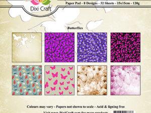 PP0078 Dixi Craft Papirsblok Butterflies -0